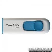 USB флеш накопитель ADATA 8GB C008 White USB 2.0 (AC008-8G-RWE)