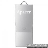 USB флеш накопитель Apacer 16GB AH730 Silver USB 2.0 OTG (AP16GAH730S-1)