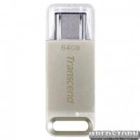 Transcend JetFlash 850 64GB USB 3.0 Type-C Silver (TS64GJF850S)