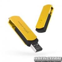 USB флеш накопитель eXceleram 32GB P2 Series Yellow2/Black USB 2.0 (EXP2U2Y2B32)