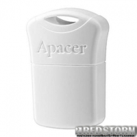 USB флеш накопитель Apacer 64GB AH116 White USB 2.0 (AP64GAH116W-1)