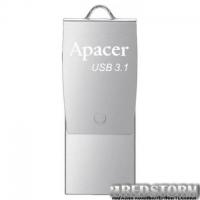 USB флеш накопитель Apacer 16GB AH750 Silver USB 3.1 OTG (AP16GAH750S-1)