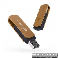 USB флеш накопитель eXceleram 32GB P2 Series Brown/Black USB 2.0 (EXP2U2BRB32)
