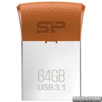 USB флеш накопитель 64GB Silicon Power Jewel J35 (SP064GBUF3J35V1E) Brown