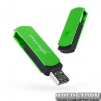 USB флеш накопитель eXceleram 8GB P2 Series Green/Black USB 2.0 (EXP2U2GRB08)