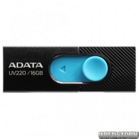 USB флеш накопитель 16Gb A-Data UV220 (AUV220-16G-RBKBL) Black/Blue