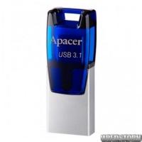 USB флеш накопитель 16Gb Apacer AH179 OTG Mobile (AP16GAH179U-1) Blue