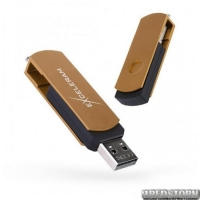 USB флеш накопитель 16Gb Exceleram P2 Series (EXP2U2BRB16) Brown/Black