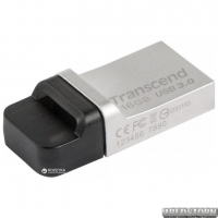 Transcend JetFlash 880 16GB USB 3.0/micro USB Silver-Black (TS16GJF880S)