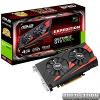 Asus PCI-Ex GeForce GTX 1050 Ti Expedition 4GB GDDR5 (128bit) (1290/7008) (DVI, HDMI, DisplayPort) (EX-GTX1050TI-4G)