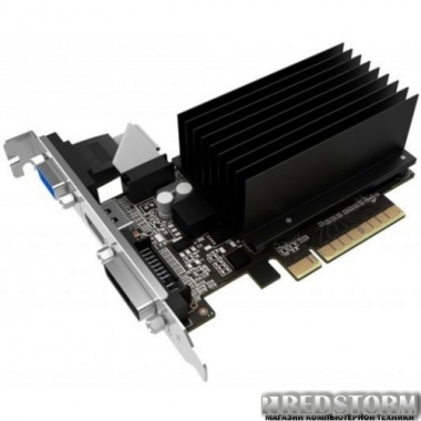 Видеокарта Gainward PCI-Ex GeForce GT 710 SilentFX 1024MB DDR3 (64bit) (954/1600) (VGA, DVI, HDMI) (4260183363583)