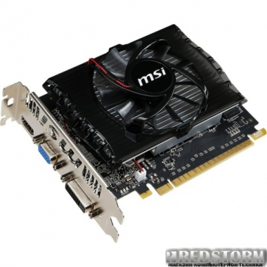 Видеокарта MSI PCI-Ex GeForce GT 730 2048MB DDR3 (128bit) (700/1800) (VGA, DVI, HDMI) (N730-2GD3V2)