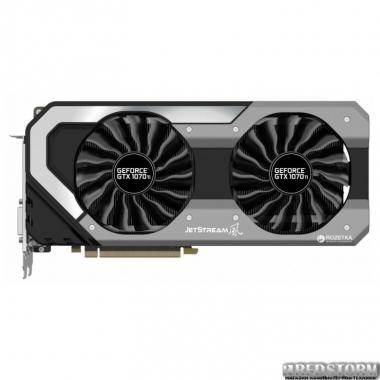 Видеокарта Palit PCI-Ex GeForce GTX 1070 Ti JetStream 8GB GDDR5 (256bit) (1607/8000) (DVI, HDMI, 3 x DisplayPort) (NE5107T015P2-1041J)