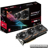 Asus PCI-Ex Radeon RX480 ROG Strix 8GB GDDR5 (256bit) (1266/8000) (DVI, 2 x HDMI, 2 x DisplayPort) (STRIX-RX480-8G-GAMING)