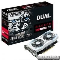 Asus PCI-Ex Radeon RX460 Dual 2GB GDDR5 (128bit) (1200/7000) (DVI, HDMI, DisplayPort) (DUAL-RX460-2G)