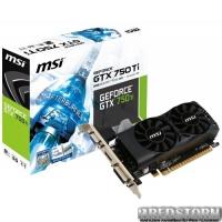 MSI PCI-Ex GeForce GTX 750 Ti 2048 MB GDDR5 (128bit) (1020/5400) (VGA, DVI, HDMI) (N750Ti-2GD5TLP)