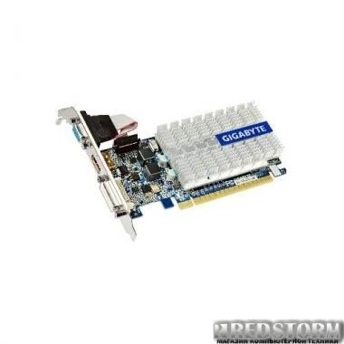 Видеокарта Gigabyte PCI-Ex GeForce 210 SILENT 1024MB GDDR3 (64bit) (520/1237) (DVI, VGA, HDMI) (GV-N210SL-1GI)