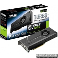 Asus PCI-Ex GeForce GTX 1080 Turbo 8GB GDDR5X (256bit) (1607/10010) (DVI, 2 x HDMI, 2 x DisplayPort) (TURBO-GTX1080-8G)