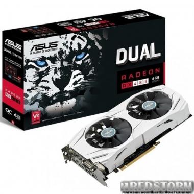 Видеокарта Asus PCI-Ex Radeon RX480 Dual 4GB GDDR5 (256bit) (1300/7000) (DVI, 2 x HDMI, 2 x DisplayPort) (DUAL-RX480-O4G)