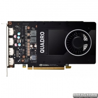 PNY PCI-Ex NVIDIA Quadro P2200 5GB GDDR5X (160bit) (1493/10024) (4 x DisplayPort) (VCQP2200-PB)