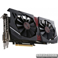 Asus PCI-Ex Radeon R9 380 Strix 2GB GDDR5 (256bit) (1010/5500) (2x DVI, HDMI, DisplayPort) (STRIX-R9380-DC2OC-2GD5-GAMING)