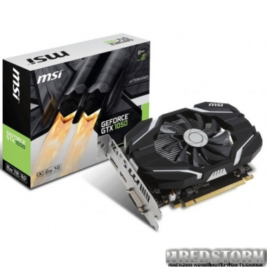 Видеокарта MSI PCI-Ex GeForce GTX 1050 OC 2GB GDDR5 (128bit) (1404/7000) (DVI, HDMI, DisplayPort) (GTX 1050 2G OC)