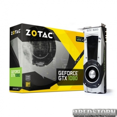 Видеокарта Zotac PCI-Ex GeForce GTX 1080 Founders Edition 8GB GDDR5X (256bit) (1607/10000) (DVI, HDMI, 3 x DisplayPort) (ZT-P10800A-10P)
