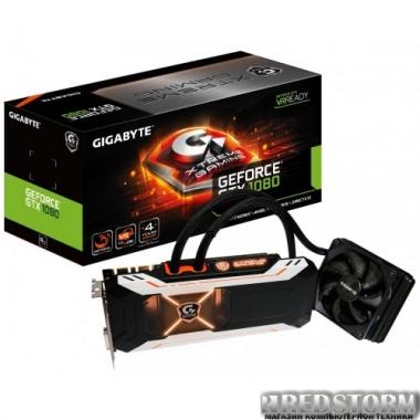 Видеокарта Gigabyte PCI-Ex GeForce GTX 1080 Xtreme Gaming Water Cooling 8GB GDDR5X (256bit) (1759/10206) (DVI, 3 x HDMI, 3 x Display Port) (GV-N1080XTREME W-8GD)