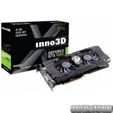 Видеокарта Inno3D PCI-Ex GeForce GTX 1080 TWIN X2 8GB GDDR5X (256bit) (1607/10000) (DVI, HDMI, 3 x DisplayPort) (N1080-1SDN-P6DN)