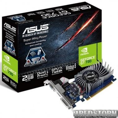 Видеокарта Asus PCI-Ex GeForce GT 730 2048MB GDDR5 (64bit) (902/5010) (VGA, DVI, HDMI) (GT730-2GD5-BRK)