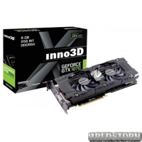 Inno3D PCI-Ex GeForce GTX 1070 TWIN X2 8GB GDDR5 (256bit) (1506/8000) (DVI, HDMI, 3 x DisplayPort) (N1070-1SDN-P5DN)