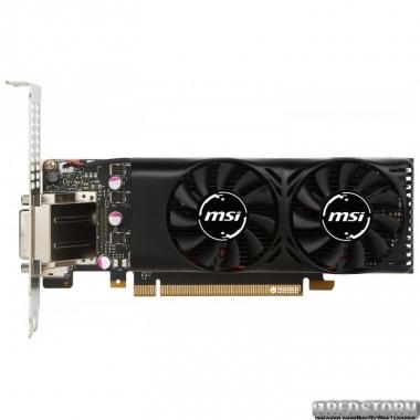 Видеокарта MSI PCI-Ex GeForce GTX 1050 Ti 4GT Low Profile 4GB GDDR5 (128bit) (1290/7008) (DVI, HDMI, DisplayPort) (GTX 1050 TI 4GT LP)