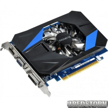 Видеокарта Gigabyte PCI-Ex GeForce GT 730 1024MB GDDR5 (64bit) (1006/5000) (DVI, HDMI, VGA) (GV-N730D5OC-1GI)
