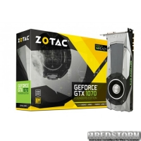 Zotac PCI-Ex GeForce GTX 1070 Founders Edition 8GB GDDR5 (256bit) (1506/8000) (DVI, HDMI, 3 x DisplayPort) (ZT-P10700A-10P)