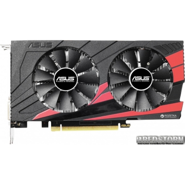 Видеокарта Asus PCI-Ex GeForce GTX 1050 Ti Expedition OC 4GB GDDR5 (128bit) (1341/7008) (DVI, HDMI, DisplayPort) (EX-GTX1050TI-O4G)