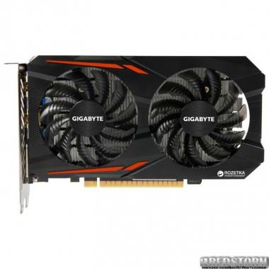 Видеокарта Gigabyte PCI-Ex GeForce GTX 1050 TI OC 4GB GDDR5 (128bit) (1316/7008) (DVI, HDMI, DisplayPort) (GV-N105TOC-4GD)