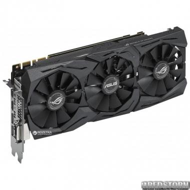 Видеокарта Asus PCI-Ex GeForce GTX 1080 ROG Strix OC 8GB GDDR5X (256bit) (1695/11010) (DVI, 2 x HDMI, 2 x DisplayPort) (ROG-STRIX-GTX1080-O8G-11GBPS)