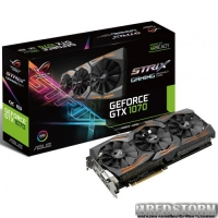 Asus PCI-Ex GeForce GTX 1070 ROG Strix 8GB GDDR5 (256bit) (1506/8000) (DVI, 2 x HDMI, 2 x DisplayPort) (STRIX-GTX1070-8G-GAMING)