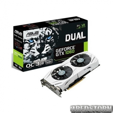 Видеокарта Asus PCI-Ex GeForce GTX 1060 Dual 3GB GDDR5 (192bit) (1569/8008) (DVI, 2 x HDMI, 2 x DisplayPort) (DUAL-GTX1060-O3G)