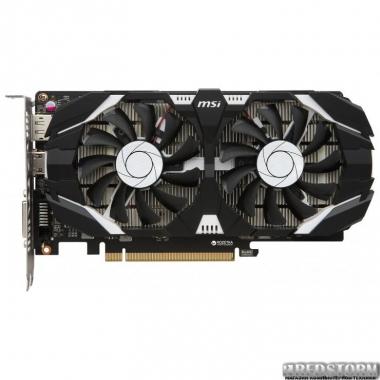 Видеокарта MSI PCI-Ex GeForce GTX 1050 Ti 4GT OC 4GB GDDR5 (128bit) (1341/7000) (DVI, HDMI, DisplayPort) (GTX 1050 TI 4GT OC)