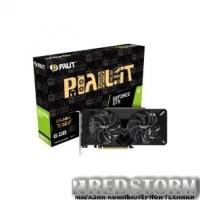 Видеокарта GF GTX 1660 Ti 6GB GDDR6 Dual OC Palit (NE6166TS18J9-1160A)