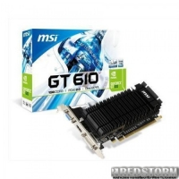 MSI PCI-Ex GeForce GT 610 LP 1024MB DDR3 (64bit) (810/1000) (DVI, VGA, HDMI) (N610-1GD3H/LPV1)