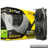 Zotac PCI-Ex GeForce GTX 1070 AMP Edition 8GB GDDR5 (256bit) (1607/8000) (DVI, HDMI, 3 x DisplayPort) (ZT-P10700C-10P)
