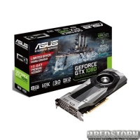 Asus PCI-Ex GeForce GTX 1080 Founders Edition 8GB GDDR5X (256bit) (1607/10000) (DVI, HDMI, 3 x DisplayPort) (GTX1080-8G)