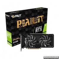 Видеокарта GF RTX 2060 Super 8GB GDDR6 Dual Palit (NE6206S018P2-1160A)