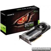 Gigabyte PCI-Ex GeForce GTX 1080 Founders Edition 8GB GDDR5X (256bit) (1607/10000) (DVI, HDMI, 3 x DisplayPort) (GV-N1080D5X-8GD-B)