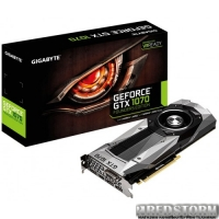 Gigabyte PCI-Ex GeForce GTX 1070 Founders Edition 8192MB GDDR5 (256bit) (1506/8000) (DVI, HDMI, 3 x Display Port) (GV-N1070D5-8GD-B)