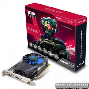 Видеокарта Sapphire PCI-Ex Radeon R7 250 2048MB GDDR5 (128bit) (925/4500) (DVI, HDMI, VGA) (11215-20-20G)