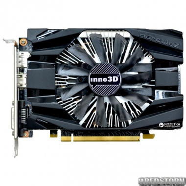 Видеокарта INNO3D PCI-Ex GeForce GTX1060 Compact 6GB GDDR5 (192bit) (1506/8000) (DVI, HDMI, DisplayPort) (N1060-6DDN-N5GM)