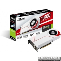 Asus PCI-Ex GeForce GTX 970 4GB GDDR5 (256bit) (1178/7010) (2 х DVI, HDMI, DisplayPort) (TURBO-GTX970-4GD5)